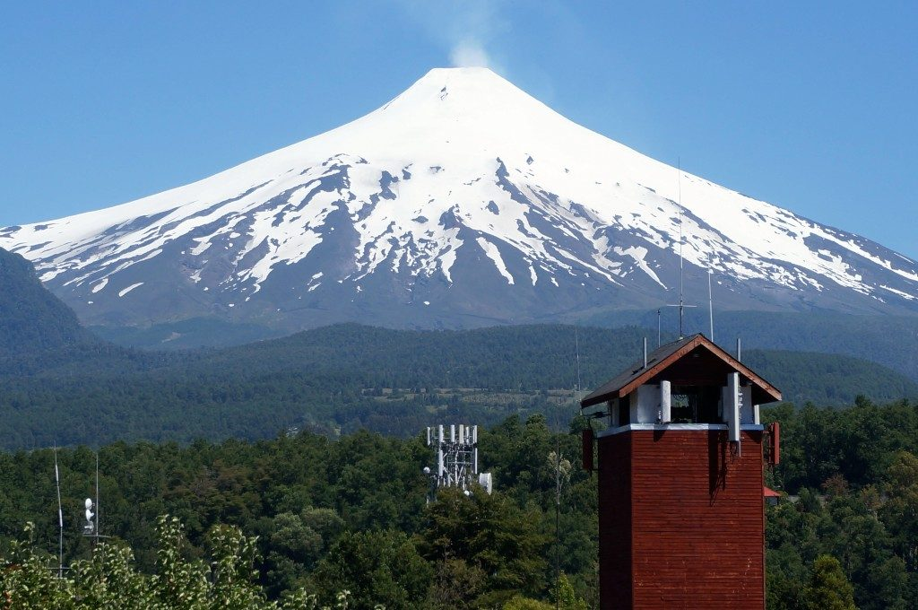 The Villarrica Volcano taken from Pucon Chile