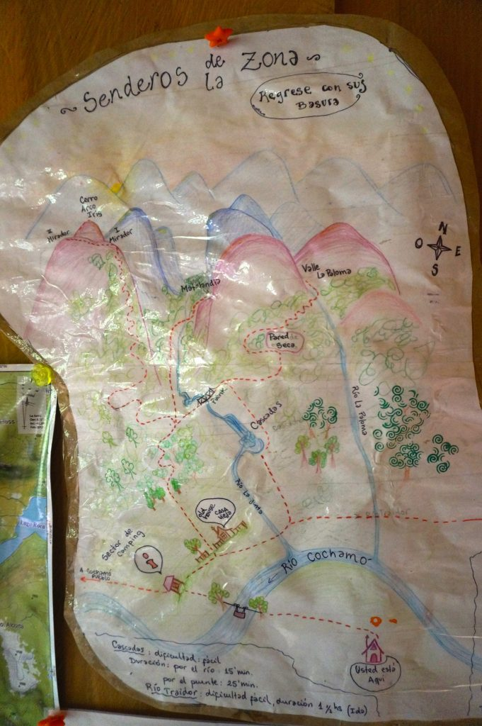 Arco Iris trail map