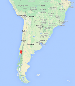 map of location Cochamo Valley, Chile