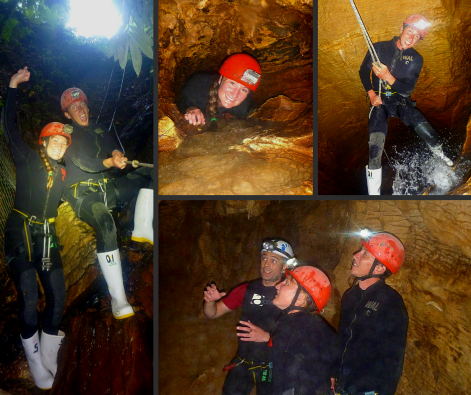 Experiencing the Haggas Honking Holes with Waitomo Adventures