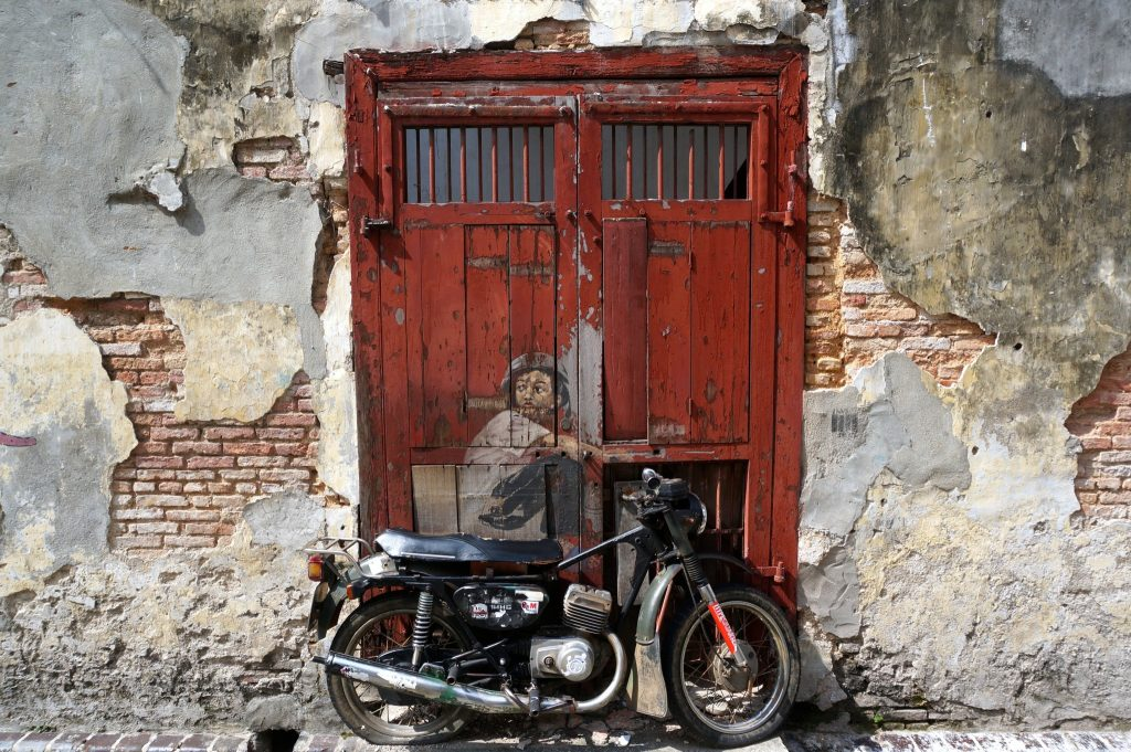 Old Motorcycle Penang Street Art