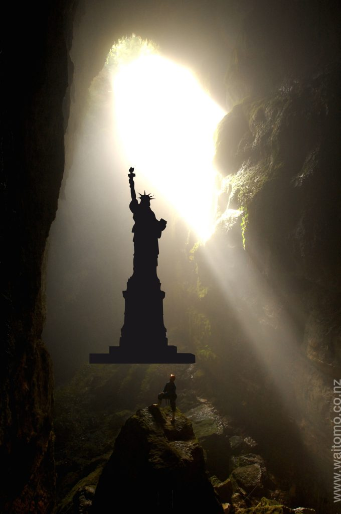 Lost World with statue of liberty