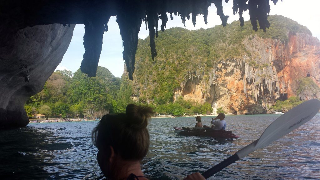 Kayaking Railay Beach to Phra Nang Beach is one of the best Railay activities
