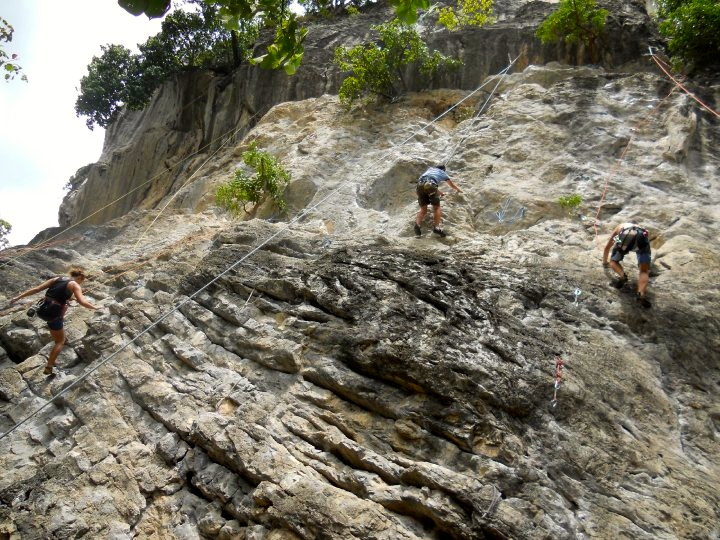 Rock climbing is one of the top things to do in Railay Beach