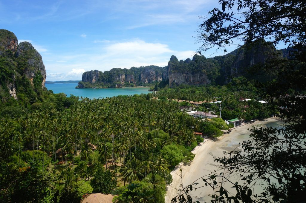 Climbing or trekking to the Railay viewpoint is one of the top things to do in Railay Beach
