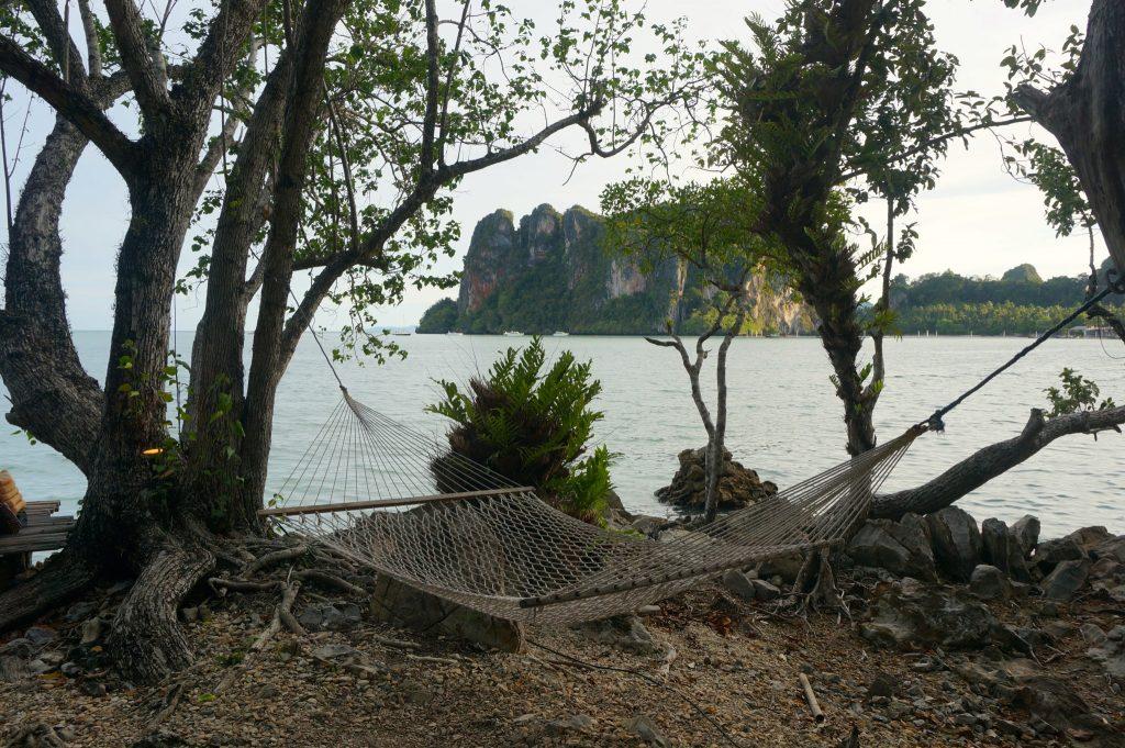Hammock swinging at Railay Beach East