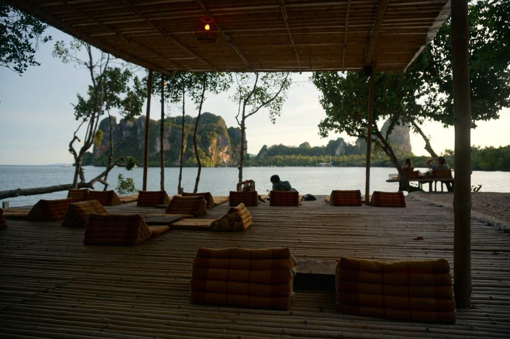 Tew Lay Bar patio in Railay