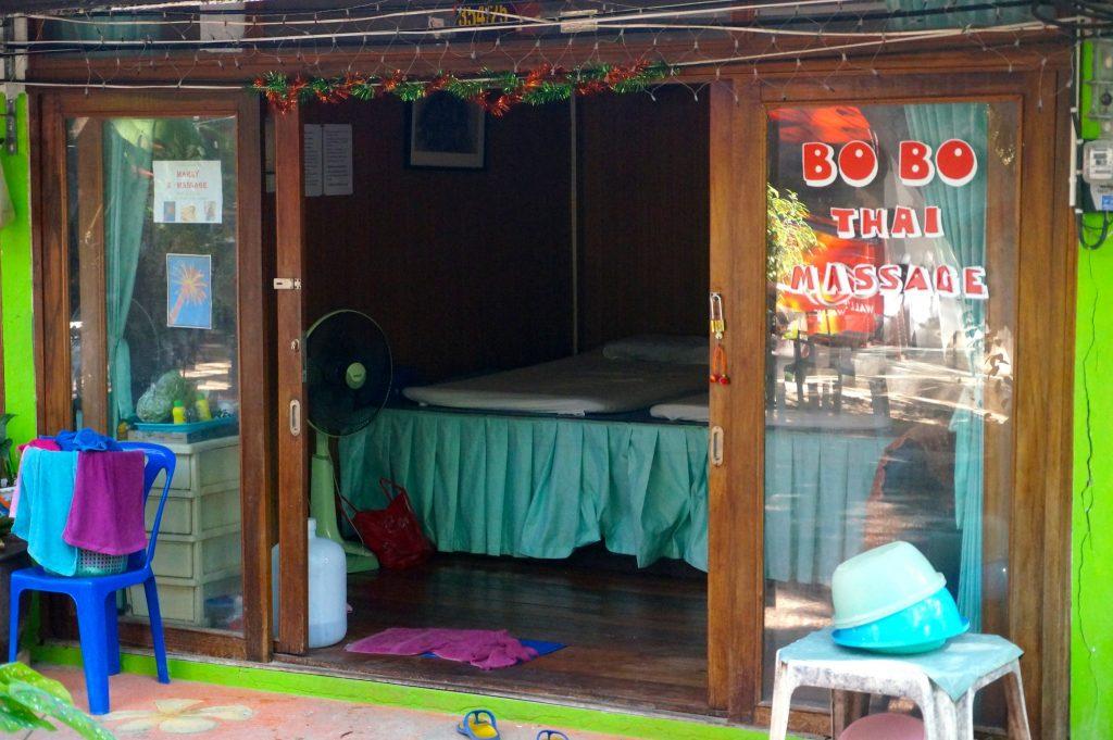Bobo Thai massage on Walking Street in Railay Beach