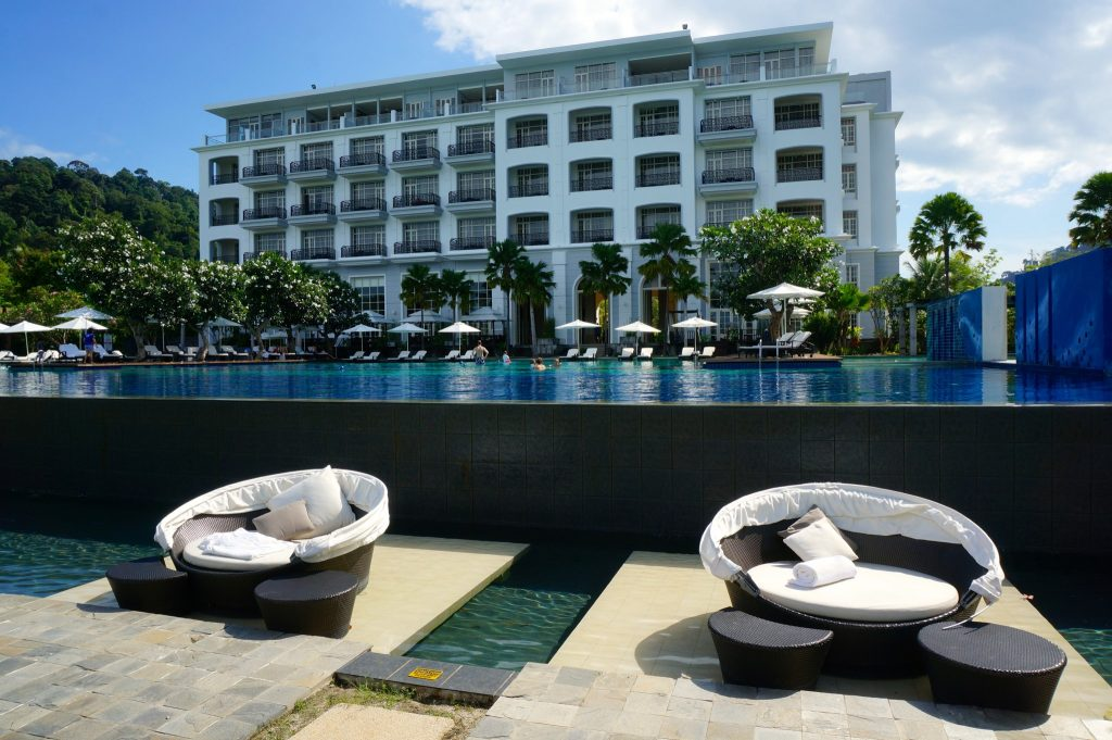 The Danna Langkawi infinity pool and hotel building