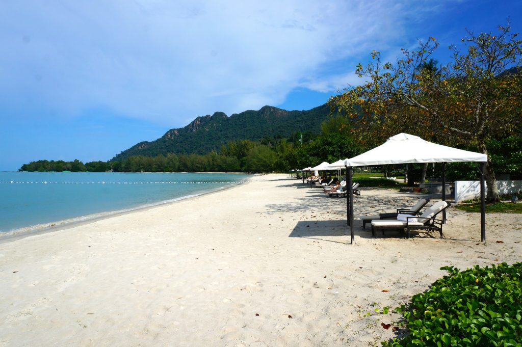 A private beach all to yourself at the Danna Langkawi luxury resort