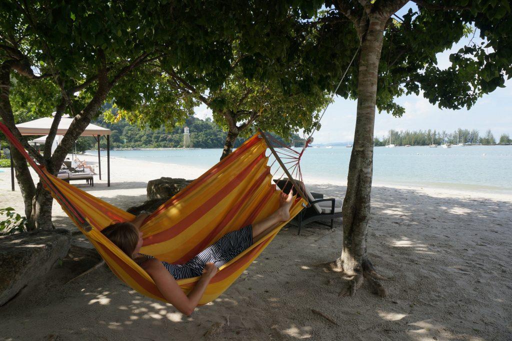 Beach hammock at The Danna Langkawi Malaysia