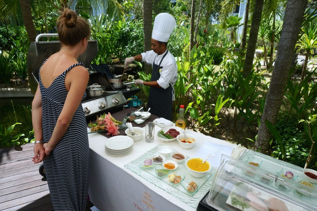 Chef's lunch at the Danna Langkawi luxury resort
