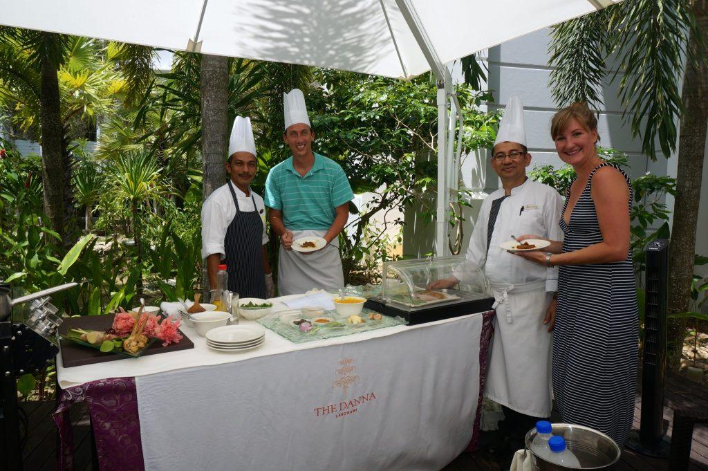 staff at The Danna Langkawi luxury resort