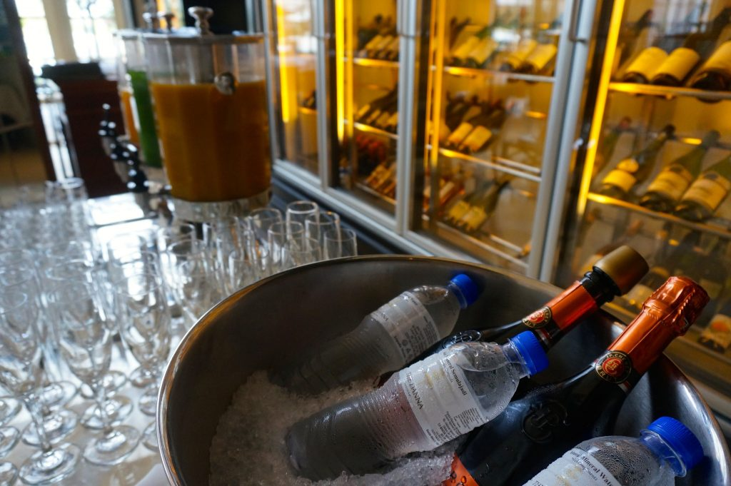 sparkling wine free flow at The Danna Langkawi champagne breakfast in The Planters