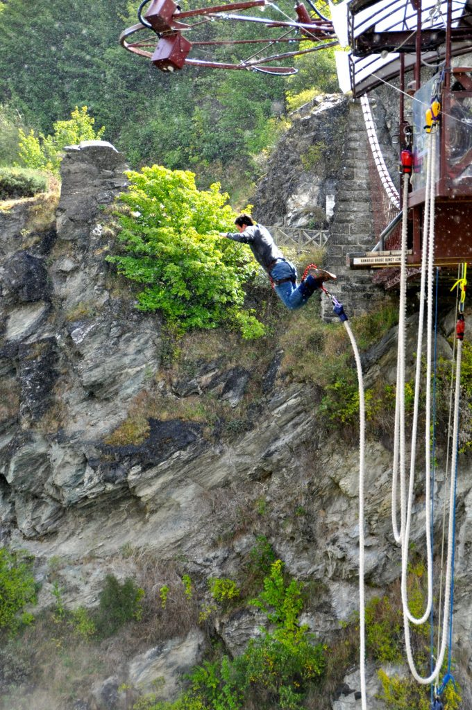 Bungy Jumping off the AJ Hackett Kawarau Bridge and hoping to not become one of the first deaths
