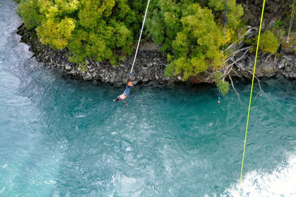 Near the end of the Kawarau Brige Bungee jump and thankfully did not die