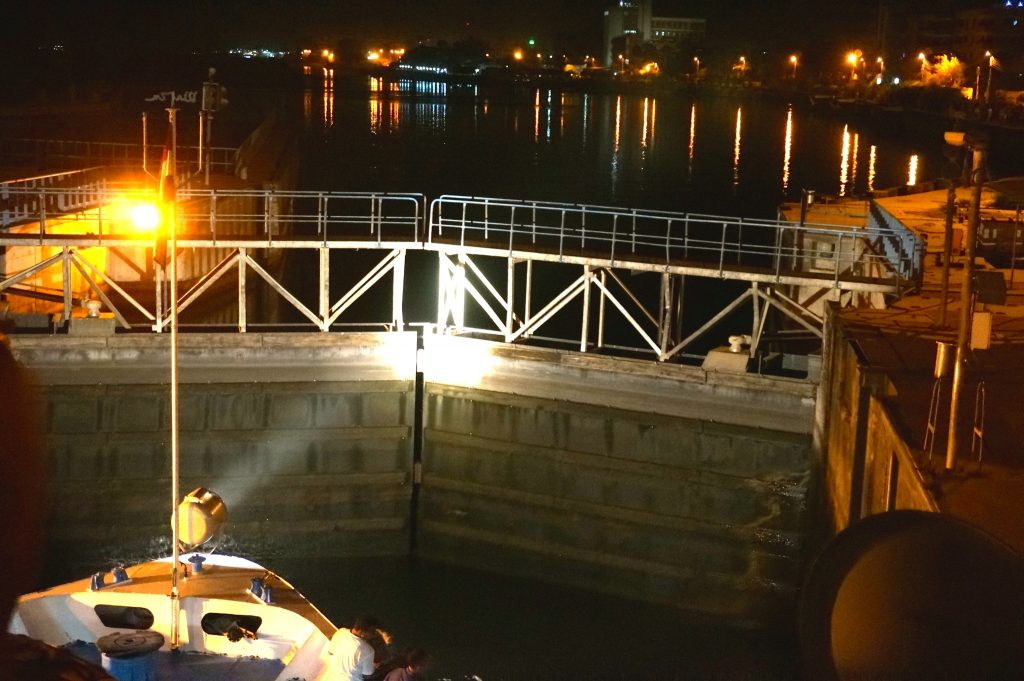 Esna canal transit on a Nile Cruise