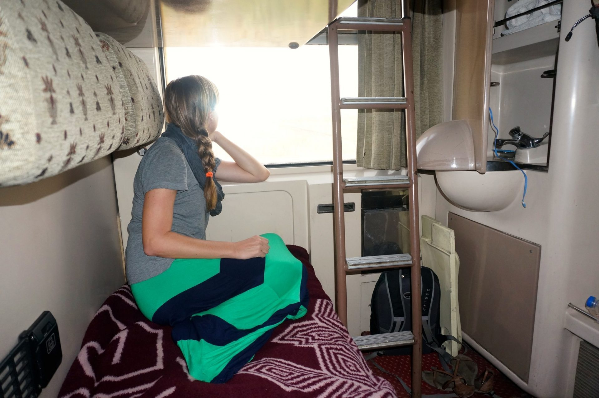 overnight train from Cairo to Aswan cabin with bed