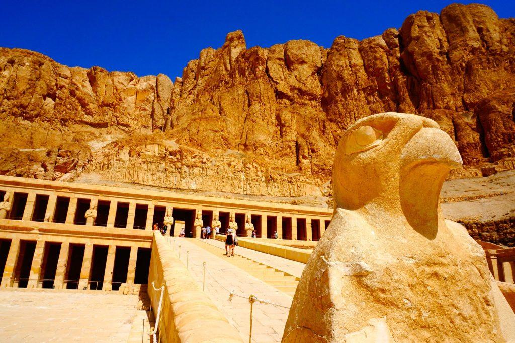 Temple of Hatshepsut on West Bank of Luxor is a site you will see during Nile River Cruise tour from Aswan to Luxor