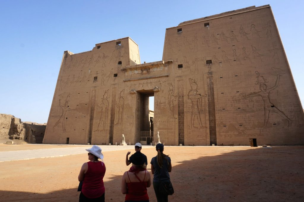 group tour of 4 at Egyptian temple