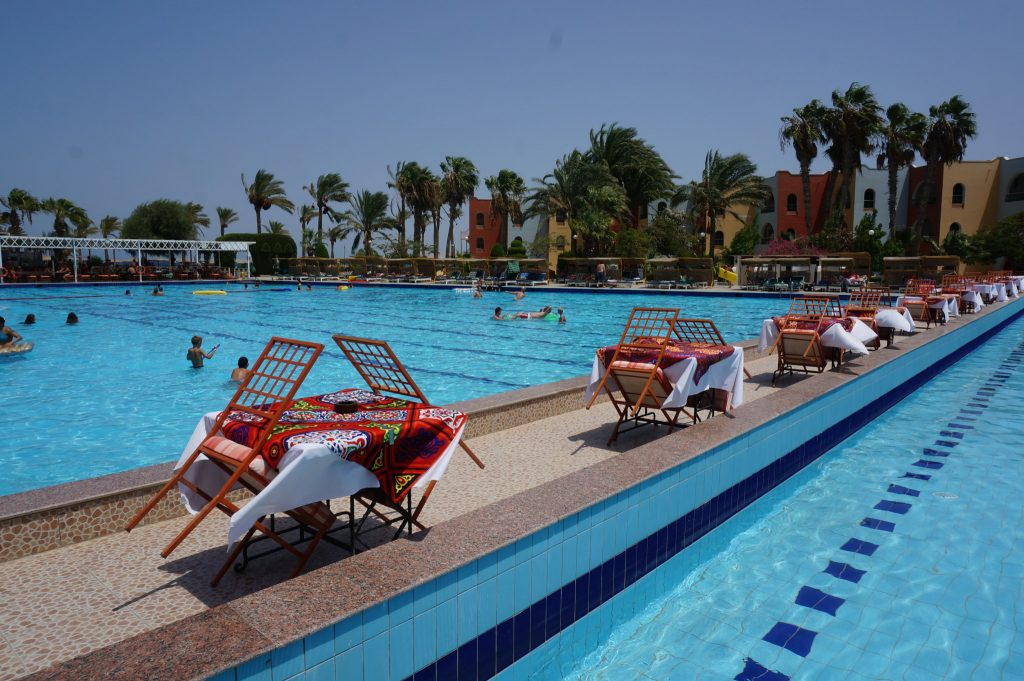Bel Air Arabia Pool, accessable from Bel Air Azur resort in Hurghada