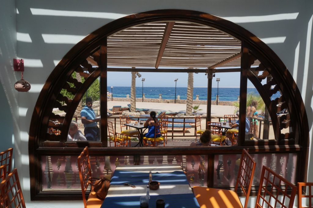 Bel Air Azur Hurghada Resort restaurant on the beach