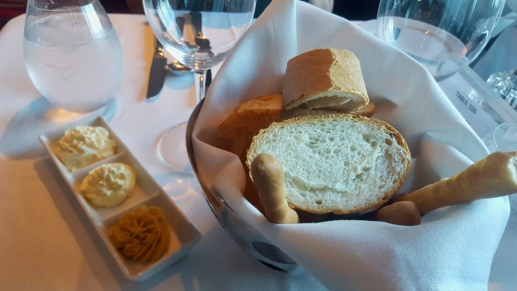 Dinner bread basket on cruise