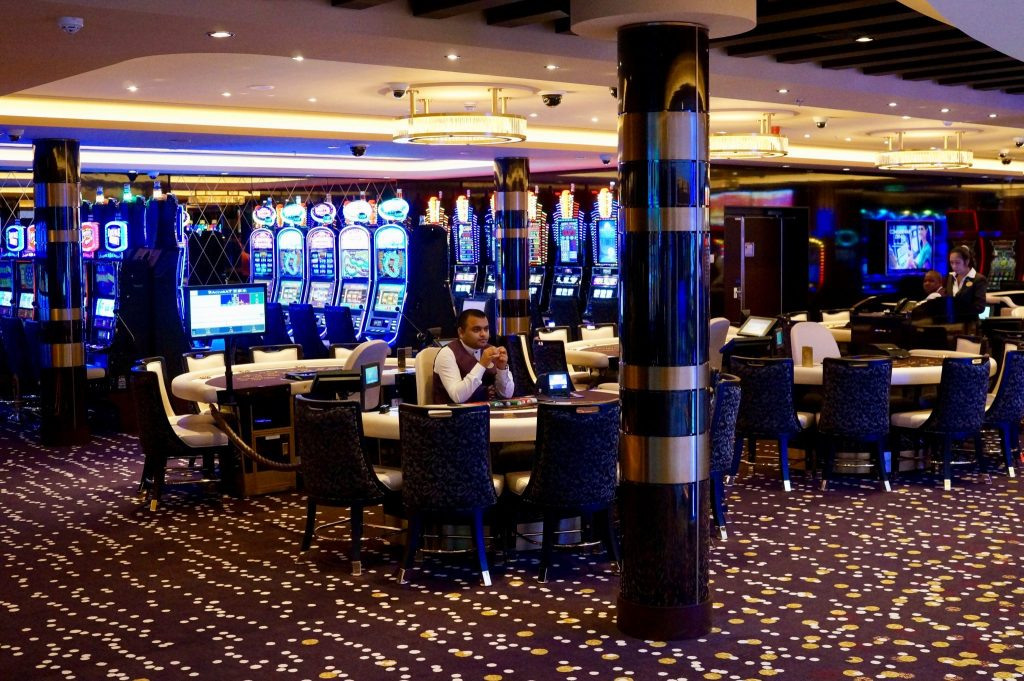 The cruise casino, like this one on the Norwegian Bliss, is where you can turn onboard credit into cash