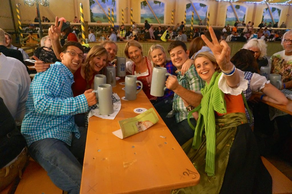 Have a fun yet cheap Oktoberfest 2016 just like these people celebrating at last year's event
