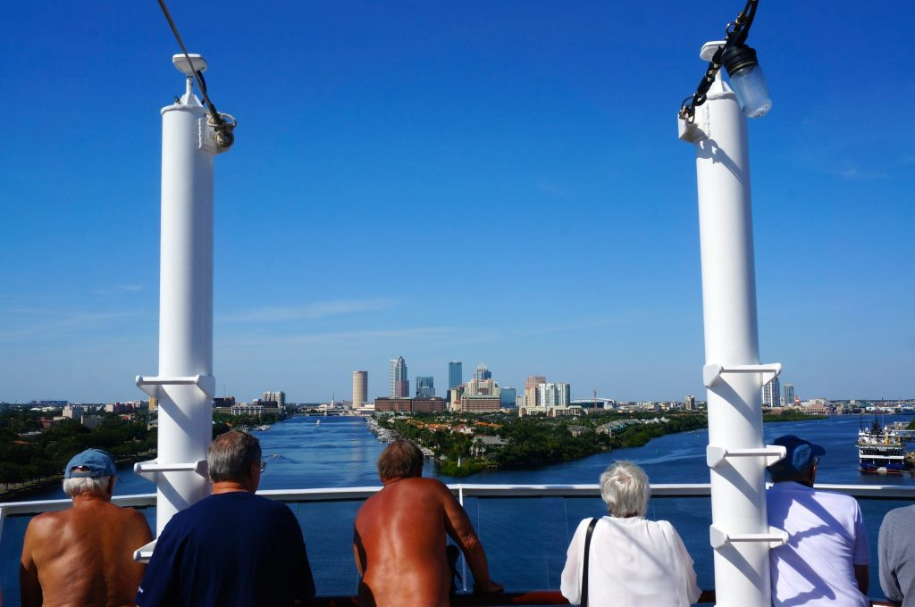 Norwegian Star Arriving into Port of Tampa after transatlantic repositioning cruise