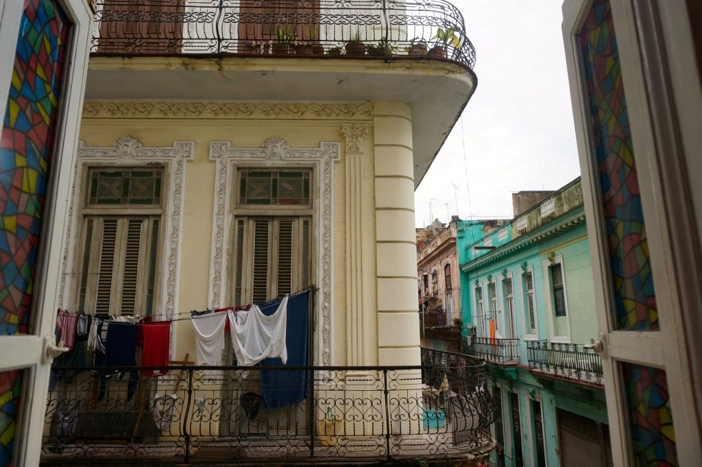 Casas particulares balcony in Havana