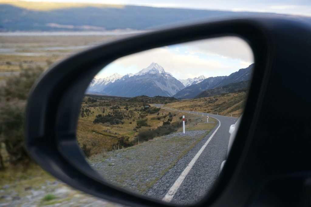 rear view mirror in New Zealand