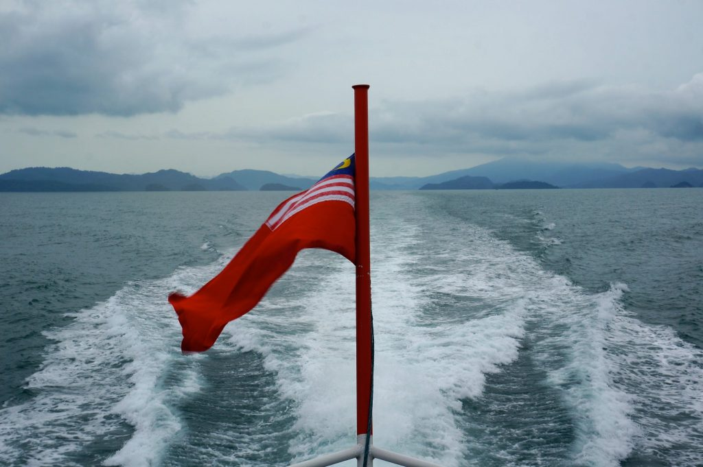 boat to Pulau Palar Marine Park in Malaysia