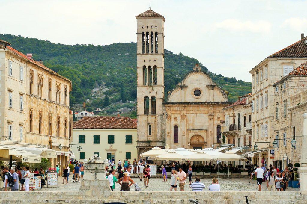 Cathedral / church in stari grad (old town) Hvar, Croatia