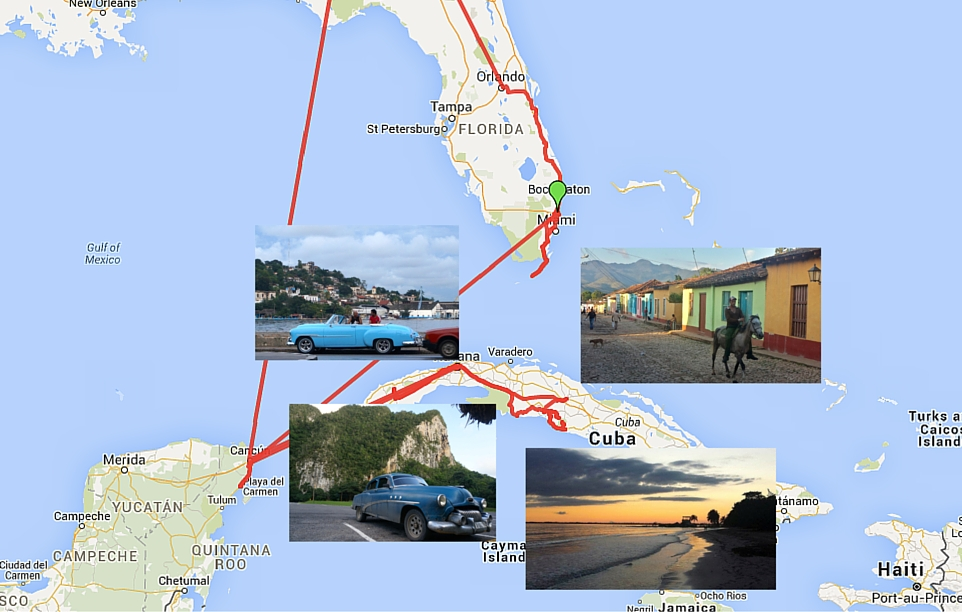 NotSoMonthly Travel Update Roaming Around Cuba Mexico US – Mexico Travel Destinations Map