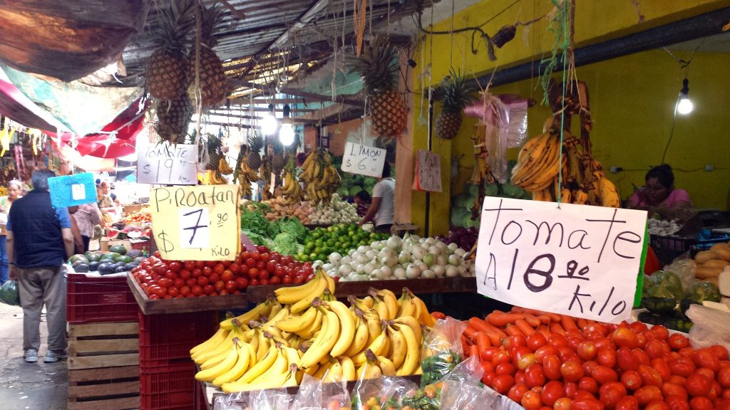 fruit and vegetables at the Lucas de Galvez Market in Merida Mexico