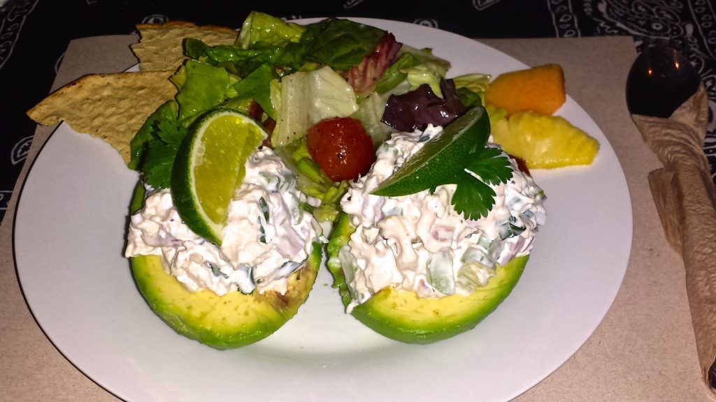 avocado stuffed with chicken salad