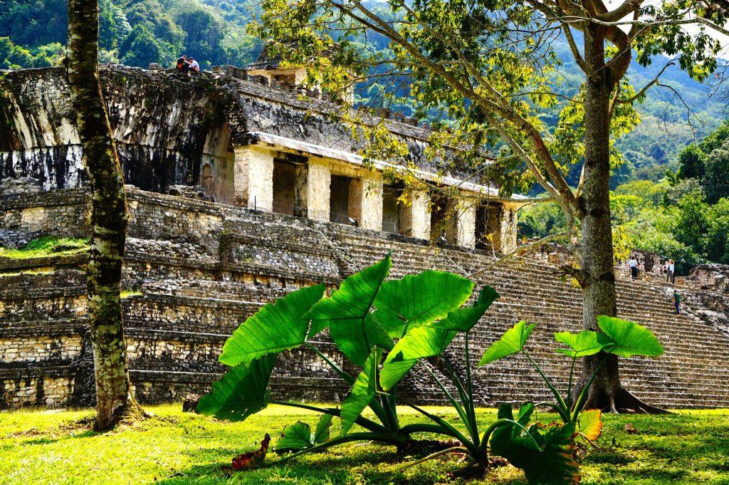 The Palace (palacio) ruins of Palenque mexico