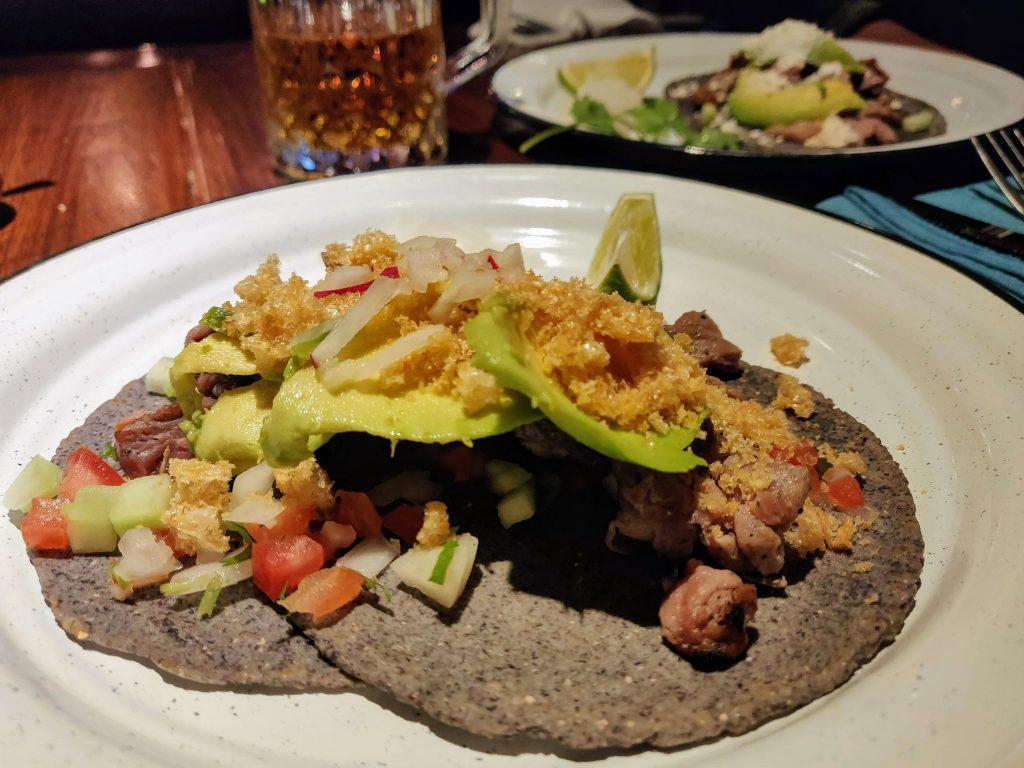 arrachera tacos at Maiz de lo Alto in Merida Mexico