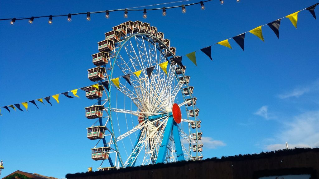 Oktoberfest Munich Ferris Wheel is a a budget-friendly Oktoberfest activity to do during the day