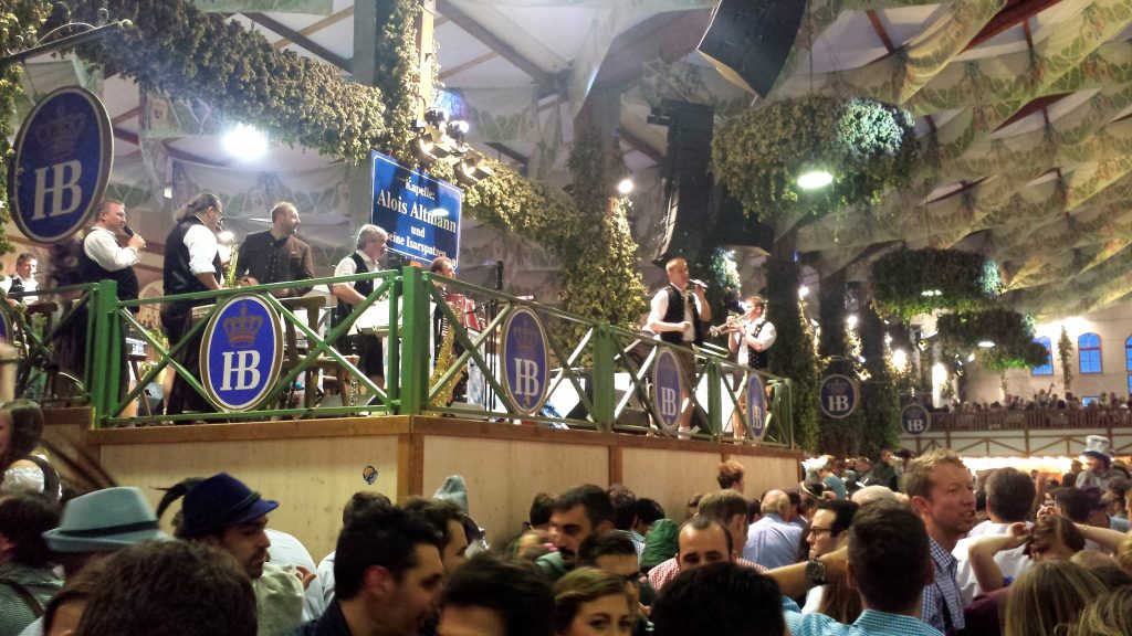 At Oktoberfest 2016 oompah bands will play for the beer drinking crowds
