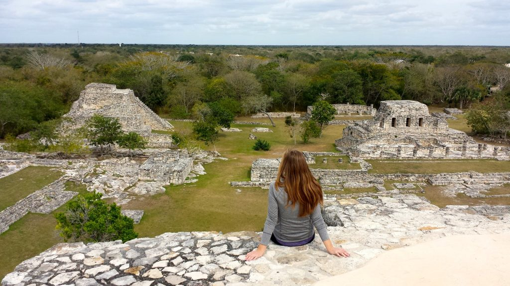 Mayapan ruins are one of the best ruins in the Yucatan near Merida Mexico