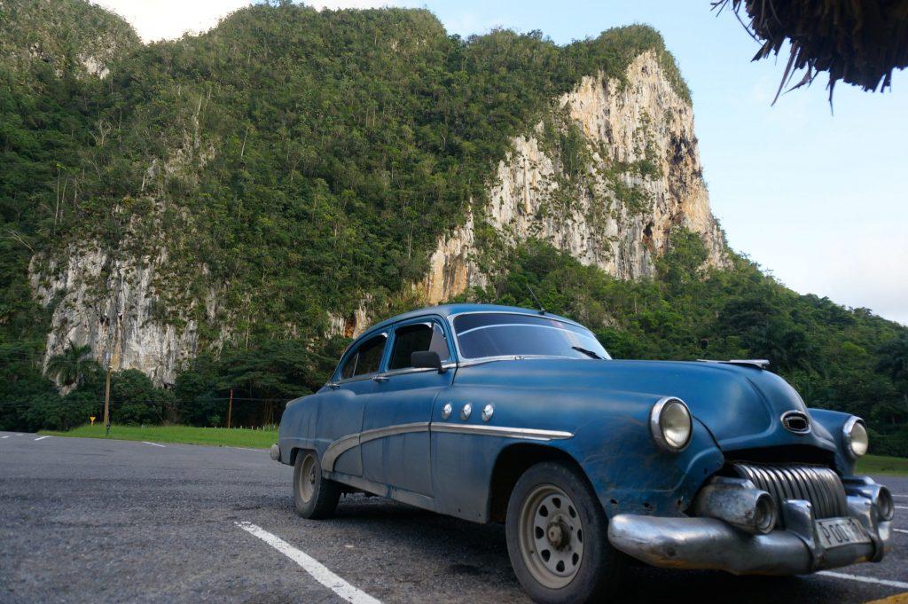 Cuba classic car in Vinales