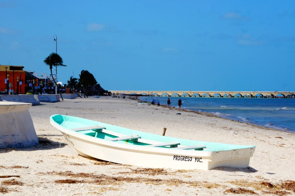 Progreso Beach in Yucatan Mexico near Merida