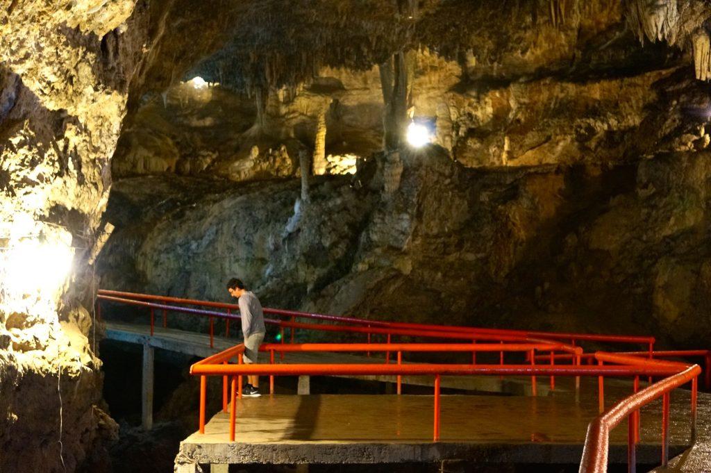 Grutas de Rancho Nuevo Cave has paths and guard rails making it safe to visit in San Cristobal de las Casas Mexcio