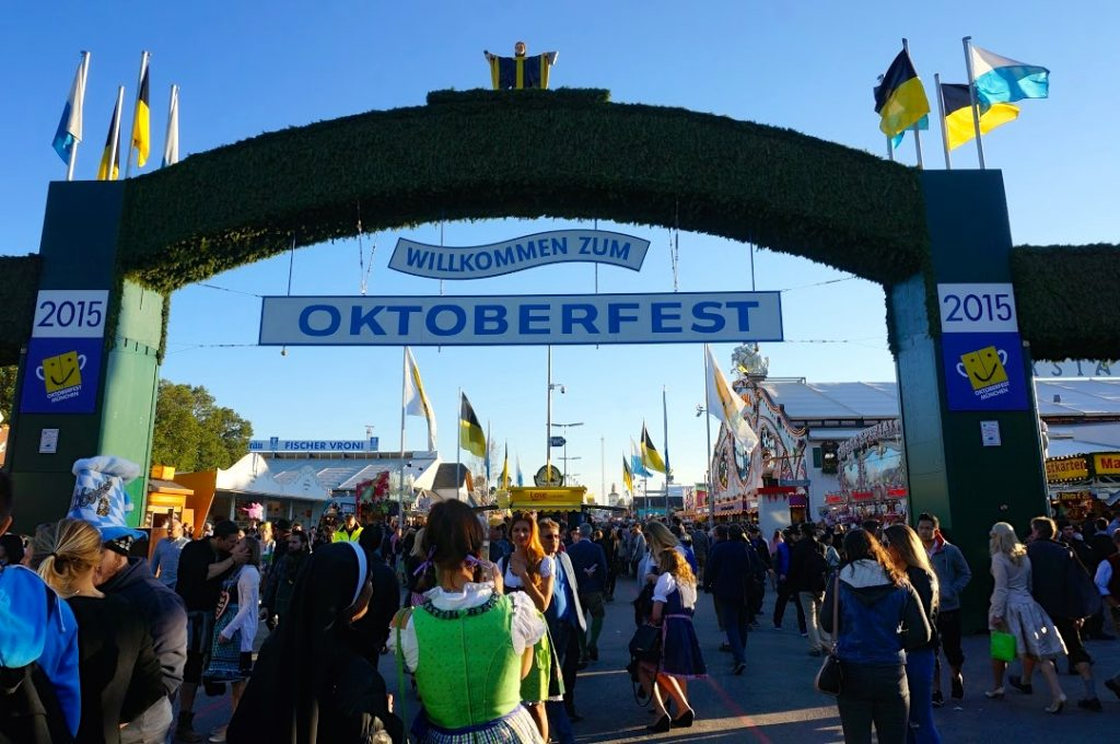 Munich Oktoberfest entrance costs nothing to get in. It's a free event.