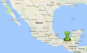Mexico map with location of San Cristobal de Las Casas Chiapas