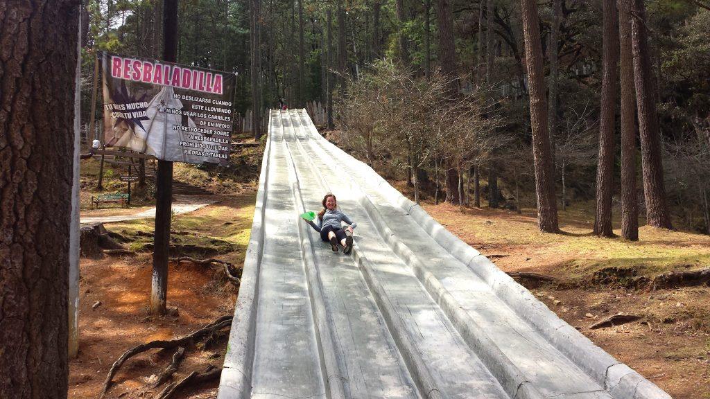 Slide at Grutas de Rancho Nuevo near San Cristobal de las Casas Mexico