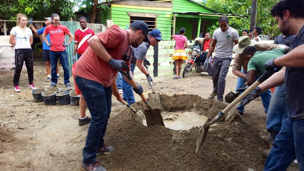 Concrete floor Fathom impact activity in Puerto Plata, DR