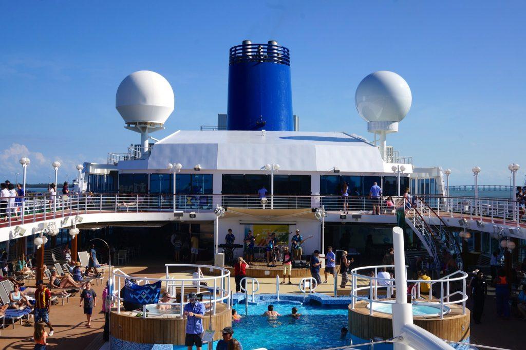 Fathom Adonia pool deck